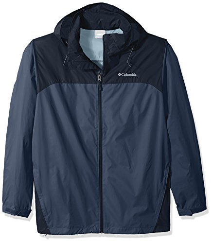 Nylon Hood Jacket - Columbia Men's Big & Tall Glennaker Lake Packable Rain Jacket, Dark Mountain, Collegiate Navy, 3X