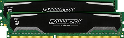 Ballistix Sport 16GB Kit (8GBx2) DDR3 1600 MT/s (PC3-12800) UDIMM 240-Pin Memory - BLS2KIT8G3D1609DS1S00 ()