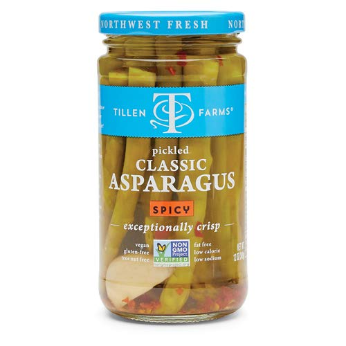 Tillen Farms - Crispy Pickled Asparagus, Hot & Spicy - 12 oz (Pack of 6)
