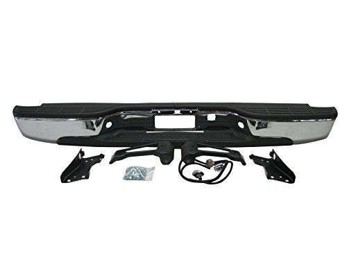 Step Bumper Brackets (Streetnshow 99-06 Silverado Fleetside 1500 Rear Step Bumper Chrome w/ Brackets Light Kit Bolts Bar)