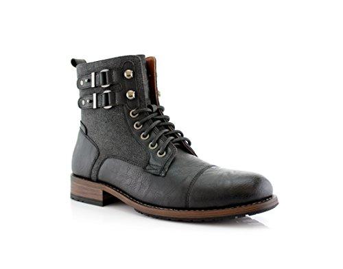 Polare Volpe Mitch Mpx808576 Mens Eleganti Stivali Per Lavoro O Abbigliamento Casual Black323