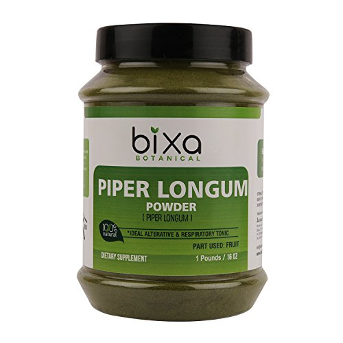 Piper Longum Powder (Pippali) - 1 Pound (16 Oz) | an Ideal Alterative & Respiratory Tonic, Ayurvedic Herbal Supplement for Carminative, Anti-Helminthic & Prevents bloatingness of Stomach