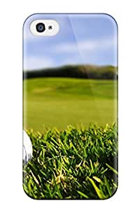 High-quality Durability Case For Iphone 4/4s(ready For The Match Ball Tiger Woods People Sports)