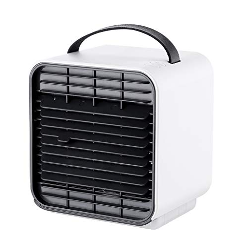 ❤SU&YU❤ Portable Mini Air Conditioner Cool Cooling for Bedroom Cooler Fan (WH)