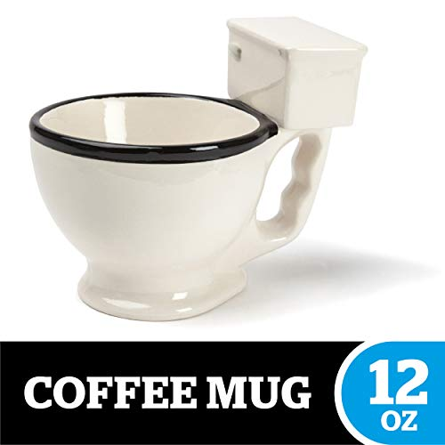 BigMouth Inc Toilet Mug, Ceramic Funny Gag Gift Perfect for Coffee, Tea -