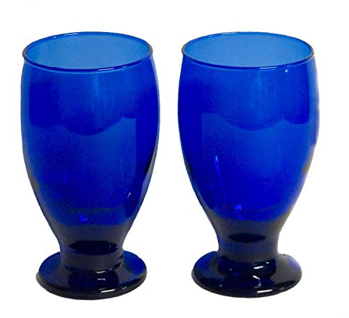 (Lexington Blue Cobalt Pedstal Glasses, Set of 2)