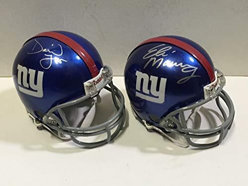 - Eli Manning David Tyree SB Catch Autographed Signed Giants Mini Helmet Lot Signature Steiner Memorabilia - JSA Authentic