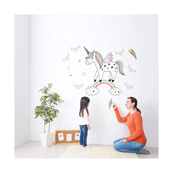 Unicorn Wall Decals Decor Stickers Large Gifts for Kids Teen Girls Boys Rooms Bedroom Nursery Bedding 9