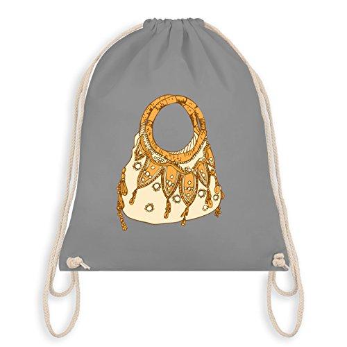 Shirtracer Typisch Frauen - Handtasche - Turnbeutel I Gym Bag Hellgrau chaCN5U