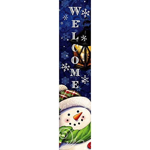 Custom Decor Yard Expression - Merry & Bright Snowman - Yard Expression Sign - 6 inch x 30 inch PVC Sign Licensed, Trademarked, Copyright by CDI. Made in The USA!