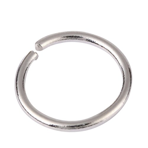 50pcs Genuine .925 Sterling Silver Open Jump Rings 5mm (Wire ~24GA or 0.5mm) #ss4 (5mm Open Ring)