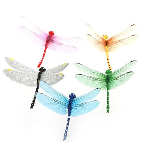 Hot Sale! 5pcs 8cm 3D Artificial Dragonflies Luminous Fridge Magnet for Home Christmas Wedding (New York Theme Dress Up Ideas)
