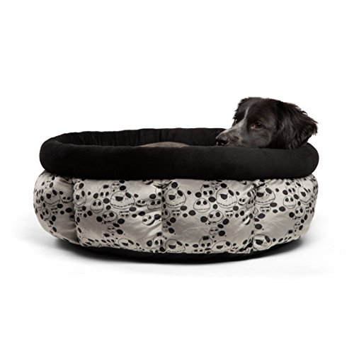 Disney Nightmare Before Christmas Jack Skellington Jumbo Cuddle Cup Dog Bed / Cat Bed, Machine Washable, High Walls for Deep Sleep, Dirt/ Water Resistant Bottom, For Pets upto 20lbs For Sale