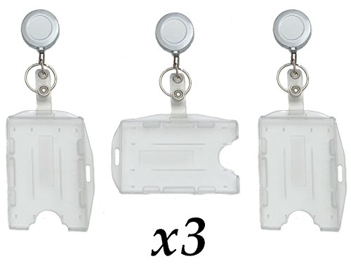 Metal Badge Reel & ID Holders Rigid Retractable - Work Key Clip