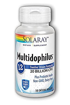 Solaray Multidophilus 20 Billion CFU, Suplemento Alimenticio, 50 cápsulas: Amazon.es: Salud y cuidado personal