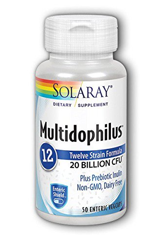 Solaray Multidophilus 20 Billion CFU, Suplemento Alimenticio, 50 cápsulas