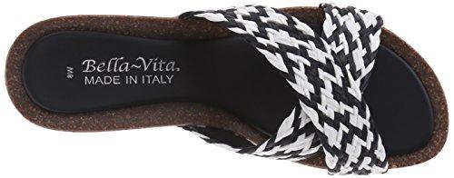 Bella Vita Pavia, Platform Sandalen Frauen, Offener Zeh, leger Black/White