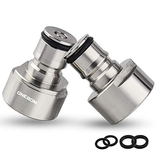 OneBom Ball Lock Conversion Kit, Sankey to Ball Lock Keg Coupler Adapter for A D S G Keg Coupler (Ball Lock Adapter Set)
