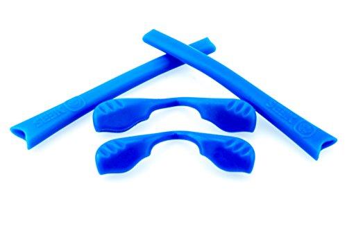 214 Series (New SEEK OPTICS Rubber Kit Earsocks Nose Pads for Oakley RADAR SERIES - Blue)