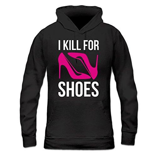 Sudadera con capucha de mujer I Kill For Shoes by Shirtcity Negro