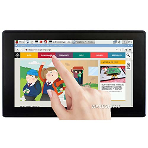 7inch HDMI LCD (H) (with case) 1024x600 Monitor IPS Capacitive Touch Screen Display with Toughened Glass Cover Supports Raspberry Pi/Jetson Nano/PC/Game Console