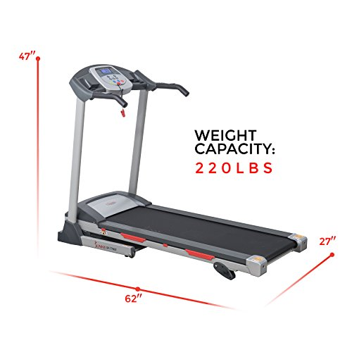 Sunny Health & Fitness SF-T7603 Electric Treadmill w/ 9 Programs, 3 Manual Incline, Easy Handrail Controls & Preset Button Speeds, Soft Drop System by Sunny Health & Fitness (Image #14)