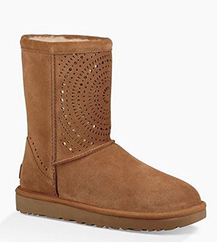 UGG Womens Classic Short Sunshine Perf Boot Chestnut Size 7 by UGG