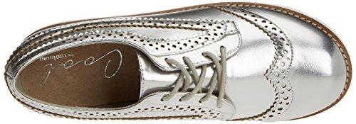 para Plata Plateado Mujer Derby Zapatos COOLWAY Cordones Ipanema de Silver HnwxXgvOzW