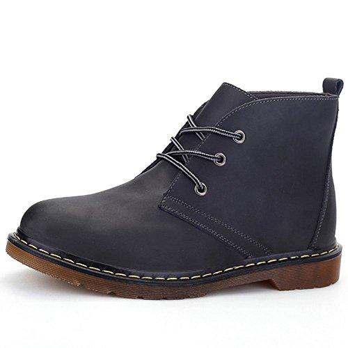Taoffen Mens Chukka Boots Snörning Öken Ankel Stövlar Skor Svarta