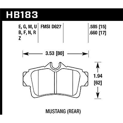 Hawk Performance HB183N.585 HP Plus Brake Pad: Automotive