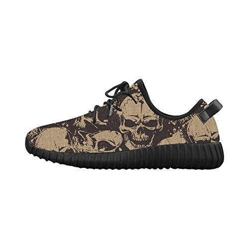 D-story Coole Schedel Print Grus Heren Boost Schoenen Boost Sneakers Energy Bounce Ademend Geweven Hardloopschoenen Voor Heren