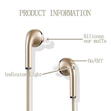 Auriculares Bluetooth Deporte V4.1 Auriculares Bluetooth inalámbrico con la tecnología de voz clara captura