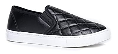 Women's Slip On Quilted Fashion Sneakers Slick Ligh Weight Comfort Casual Sport Athletic Shoes
