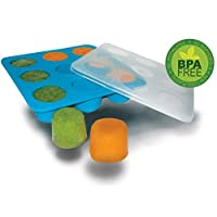 Homemade Baby Food Storage Solution, Silicone Freezer Tray with Lid. Makes 9 ...