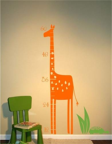 Wall Stickers Inspiring Quotes Home Art Decor Decal Mural Giraffe Growth Chart for Nursery Kids Room Living Room Bedroom