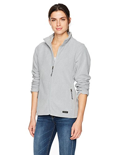 Charles River Apparel Women's Boundary Fleece Jacket, Light Grey Heather, M ()