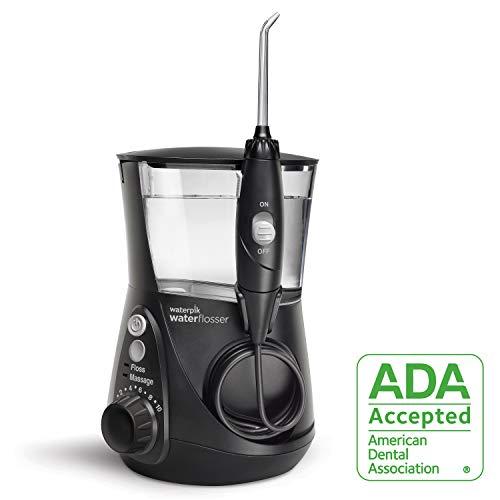 Waterpik Water Flosser Electric Dental Countertop Oral Irrigator For Teeth Aquarius Professional, WP 662 Black