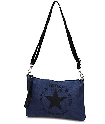 Femme à sac Blau M3 en luxe toile de Sac pour main avec étoile waxq4ndX