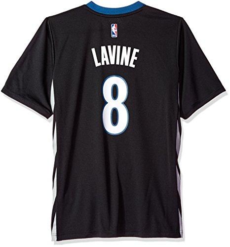 fan products of NBA Men's Minnesota Timberwolves Zach LaVine Replica Player Alternate Road Jersey, Medium, Black