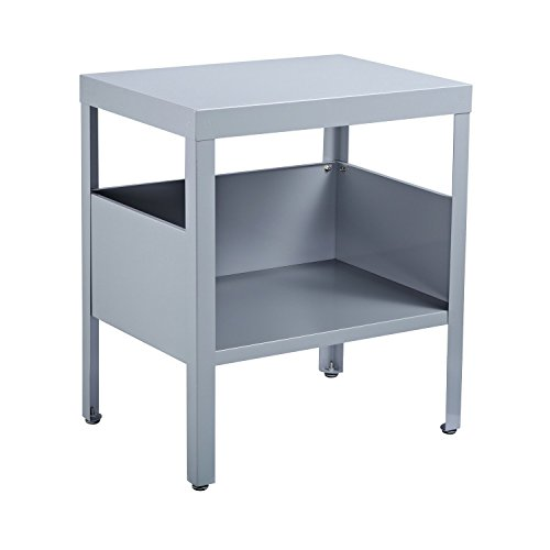 End Tables Steel Side Nightstand Tables Industrial Use in Gray With Ebook