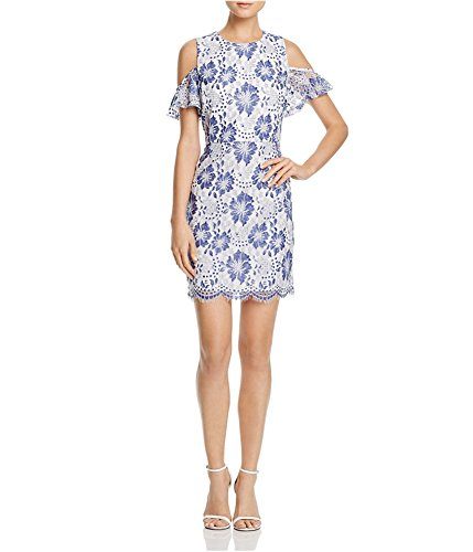 French Connection Women's Antonia Lace Dress, Meru Blue, (French Lace Dress)