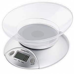 Etekcity Kitchen Weight Scale, Silver