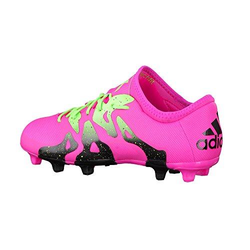 Bota de fútbol adidas X 15.2 FG/AG Shock pink-Solar green-Core black Shock pink-Solar green-Core black