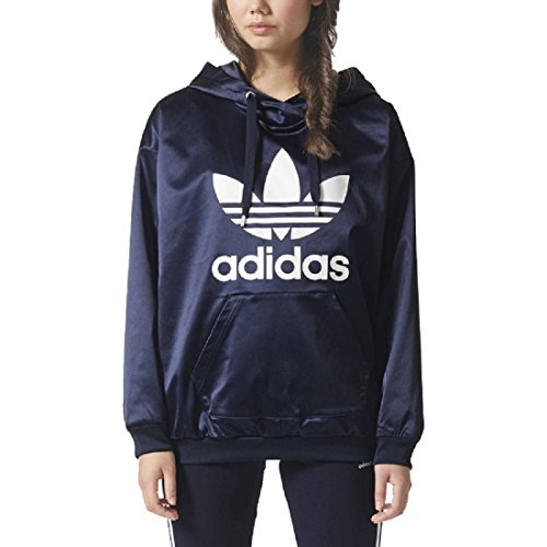 adidas Originals Women's Originals Trefoil Hoodie, Legend Ink, L