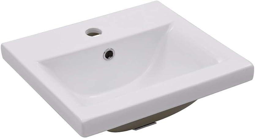 vidaXL Waschbecken Waschschale Waschtisch Aufsatzwaschbecken Waschplatz Handwaschbecken Aufsatzbecken Badezimmer 45,5x32x13cm Keramik Schwarz