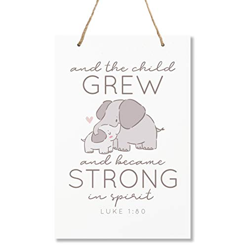 LifeSong Milestones Elephant Wall Decor Decorations Signs for Kids, Bedroom, Nursery, Hallways, Baby's Boys and Girls Room, Toddlers Size 8