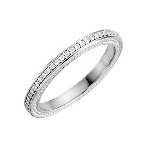 (Jewels By Lux Diamond Platinum Wedding Ring Band Mounting Size 7)