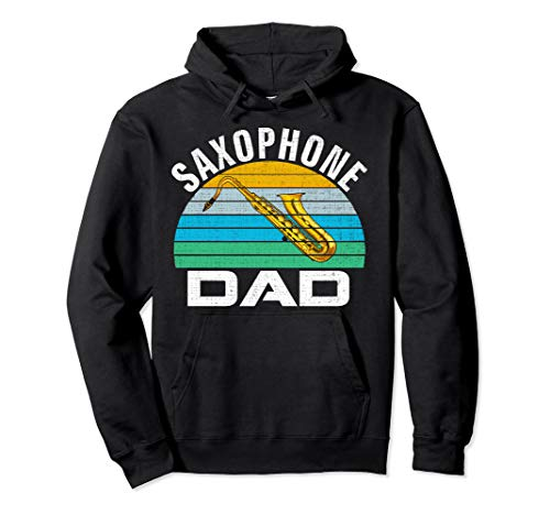 Retro Vintage Saxophone Dad Funny Music Father