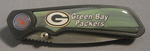 Green Bay Packers Classic Abstract Logo Black Folding Pocket Knife