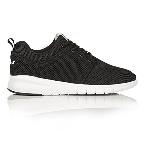 Gola Womens/Ladies Angelo Flexible Lace Up Trainers/Sneakers (5 US) (Black/White)